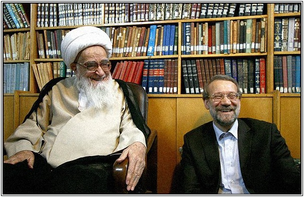 ayatollah-safi-golpayegani-ali-larijani2